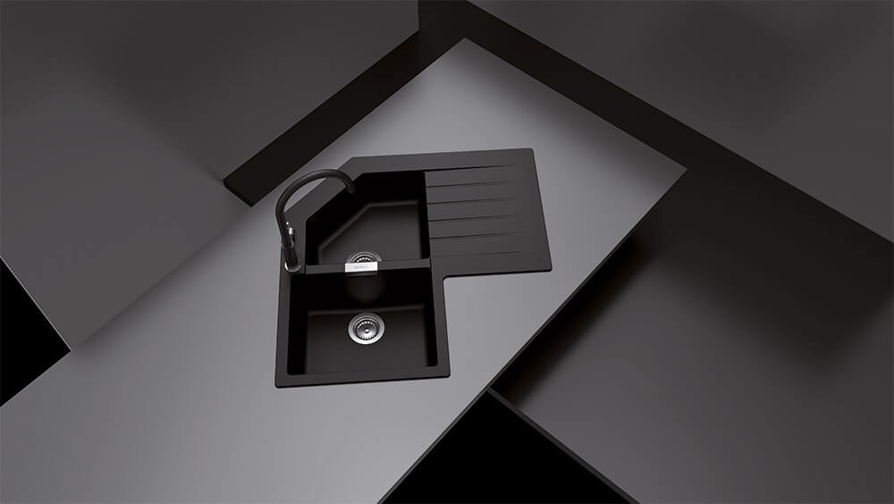 Chiuveta Granit Schock Primus C-200 Nero 840 x 840 mm